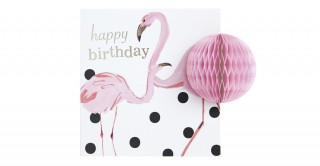Gift Card- Happy Birthday Flamingo