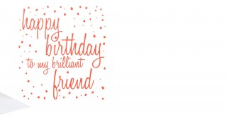 Gift Card- Happy Birthday Brilliant Friend