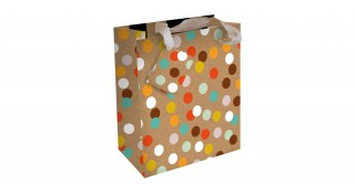 Gift Bag - Kraft Spots - Large