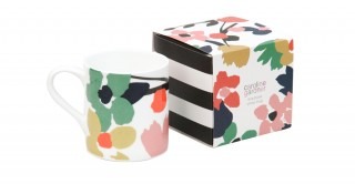Abstract Floral Boxed Mug
