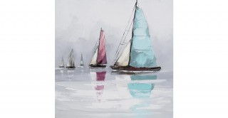 Sailing 40X40 Hand-Painted Canvas