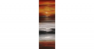 Sunset 50X150 Hand-Painted Canvas