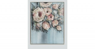 Roses 104X130 Hand-Painted Canvas