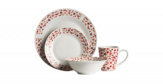 Red Daisy 16Pc  Dinnerset