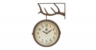Ajit Metal 2-Sided Clock
