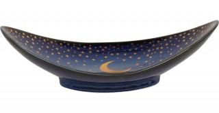 Moon Sweet Plate Blue 25 cm