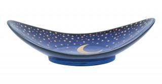 Moon Sweet Plate Blue 20 cm