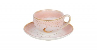 Moon 6pcs Turkish Cup and Saucer