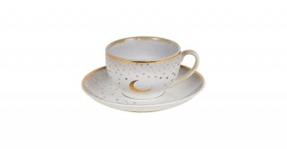 Moon 6 Pc Tea Cup Set - Cream