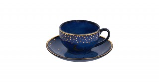 Moon 6 Pc Tea Cup Set - Blue