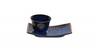 Moon 6 Pcs Gawa With Sweet Plate - Blue