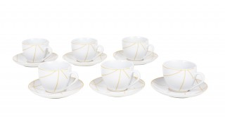 Kabin 6Pcs White Espresso Set
