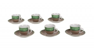 Kai 6Pcs Green Espresso Set
