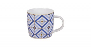 Square Blue Mug 320Ml