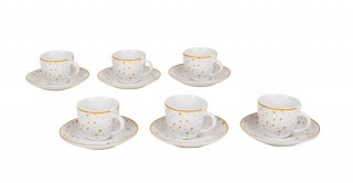 Spot 6Pcs White Espresso Set