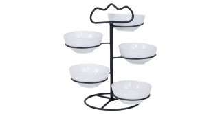 Iria 5-Tier Serving Dish 10Cm White
