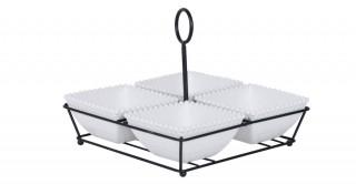 Iria Serving Dish S/4 10Cm White