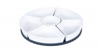 Iria Serving Platter 21Cm Blk/Whte