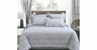 Blanco 220X240 Jacquard Duvet Cover Set