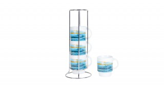 Ocean 4Pcs Stacking Coffee Cup Blue
