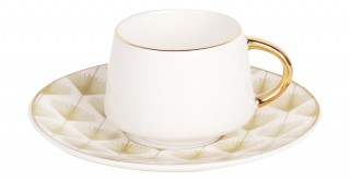 Cora 6pcs Turkish Cup and Saucer