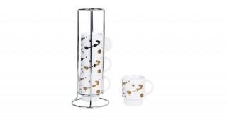 Dream 4Pcs Stacking Coffee Cup White