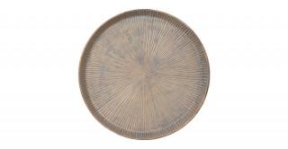 Kala Deco Plate Gold 36Cm