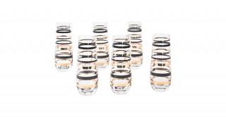 Stripe 6pcs Flute Glass, 280ml