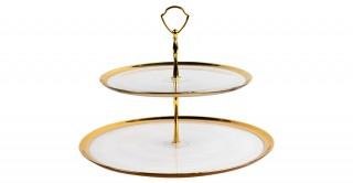 Tesa 2-Tier Platter Gold