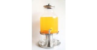 Hammered Drink Dispenser Set, 11 Liter