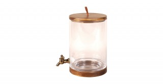 Sole 5.3 Litre Dispenser With Wood Base Clear
