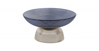 Cone Serving Bowl W/Stand Blue 25.5 cm