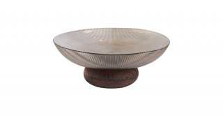 Cone Footed Serving Bowl Coffee 25.2 cm