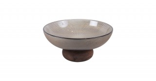 Cone Footed Serving Bowl Coffee 15.5 cm