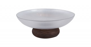 Cone Footed Serving Bowl Clear 35 cm