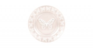 Butterfly Sweet Plate White 21Cm