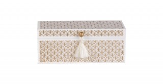 Seth Jewelry Box Cream And White 20 cm