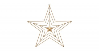 Star Wall Ornament Gold 40 cm