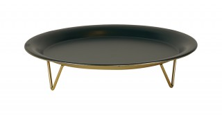 LUPO DECORATIVE TRAY GREEN AND GOLD 24.5