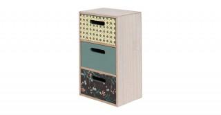Miya Storage Green And Cream 25 cm