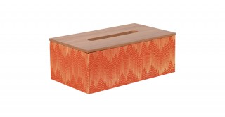 Sandra Tissue Box Red And Brown 25 cm