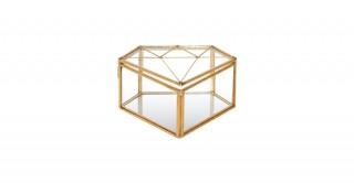 Solis Lidded Storage Gold 14.5 cm