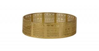 Claude Metal Tray Gold 28 cm
