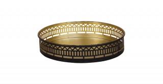 Evon Metal Tray Gold 23 cm
