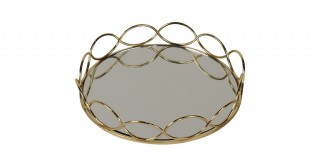 MERCER DECORATIVE TRAY GOLD 18CM