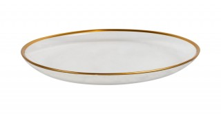 Atlas Footed Plate 17.2x5.5 cm, Gold