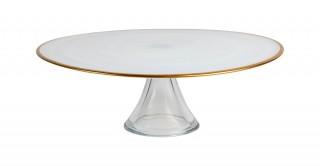 Alabaster Cake Platter, 32.5cm