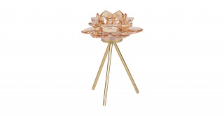 Teo Candle Holders With Metal Base Gold