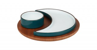 Karyl 3Pcs Serving Dish Set Green