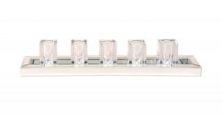 Grick Crystal Vase Silver 50.6Cm  X 9.8Cm X 9Cm